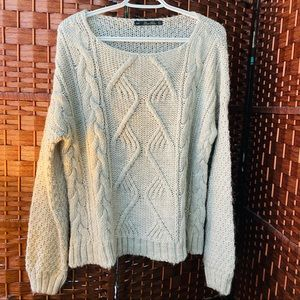 Zara Chunky Cable Knit Sweater